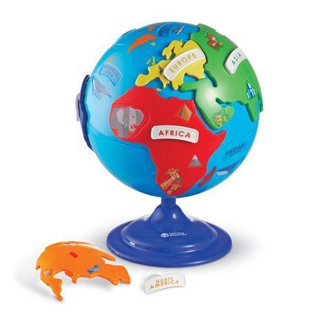 Puzzle interactiv - Glob pamantesc copii 1
