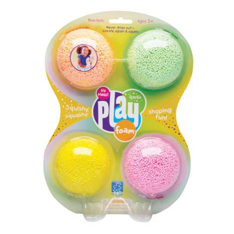 Playfoam - Spuma modelabila cu sclipici in 4 culori 0