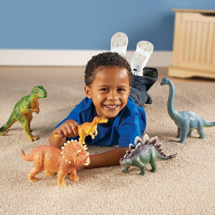 Set dinozauri - figurine mari pentru bebelusi 1