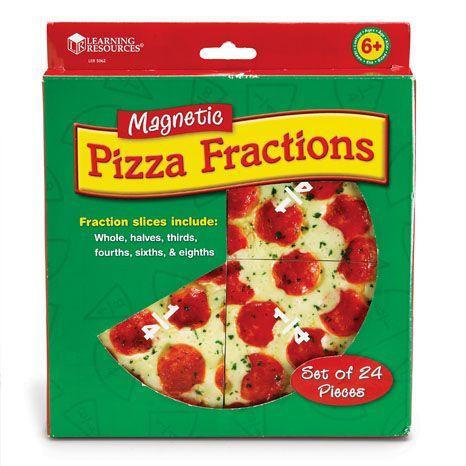 Felii de pizza magnetice - Sa invatam fractiile