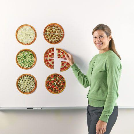 Felii de pizza magnetice - Sa invatam fractiile 3
