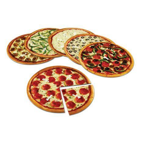Felii de pizza magnetice - Sa invatam fractiile 0