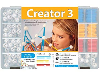 Set stiintific de constructie Zometool - Creator 3 0