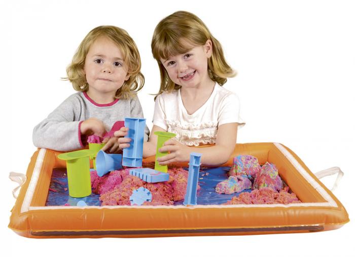Tavita gonflabila pentru joaca cu nisip kinetic sau alte materiale 1