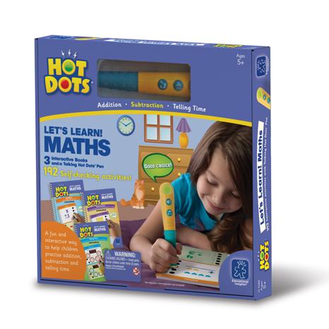 Set matematica - 3 carti de activitati si un stilou vorbitor HotDots 1