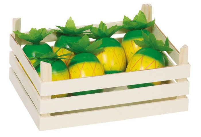 Ananas din lemn in ladita - Set fructe din lemn 0
