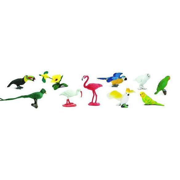 Pasari exotice - Safari Toob - Set 11 figurine 0