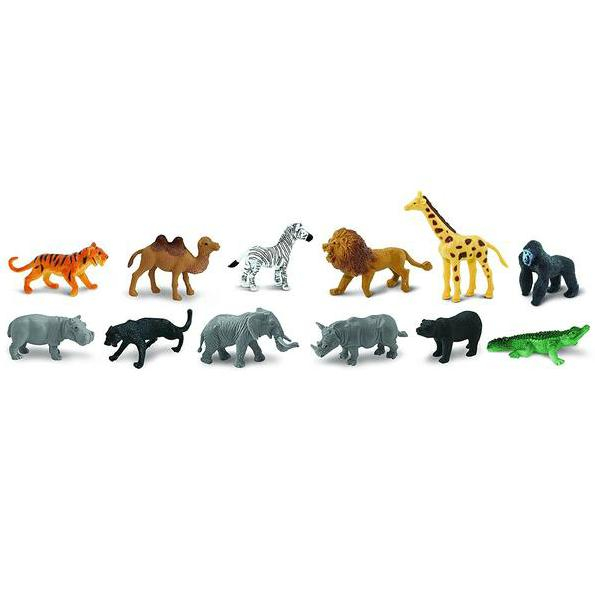Animale salbatice - Safari Toob - Set 12 figurine 0