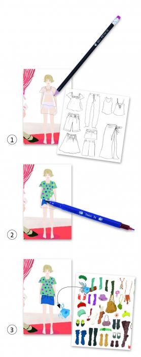 Atelier de moda fii designer! - Set creativitate si indemanare 1