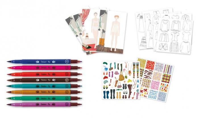 Atelier de moda fii designer! - Set creativitate si indemanare 2