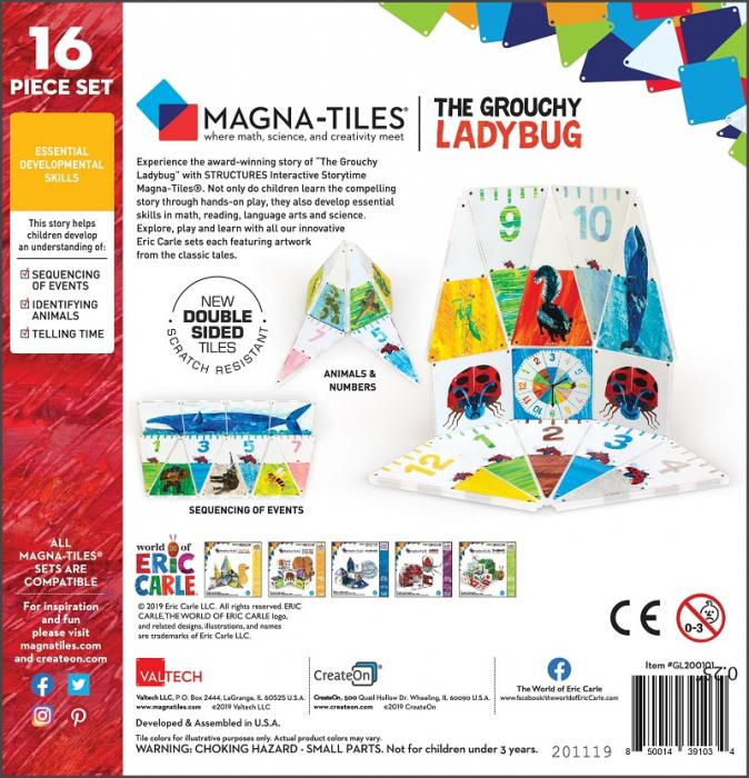 Set de constructie piese magnetice CreateOn Magna-Tiles - Gargarita morocanoasa By Eric Carle 16 piese 7