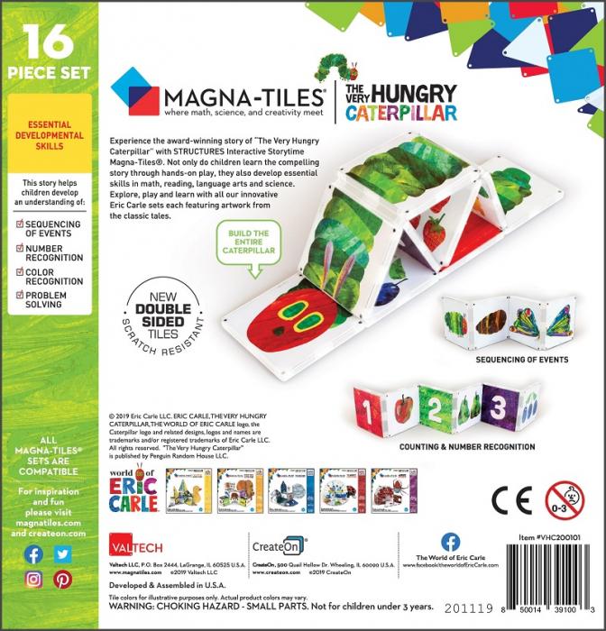 Set de constructie piese magnetice, CreateOn Magna-Tiles -  Omida mancacioasa By Eric Carle, 16 piese 5