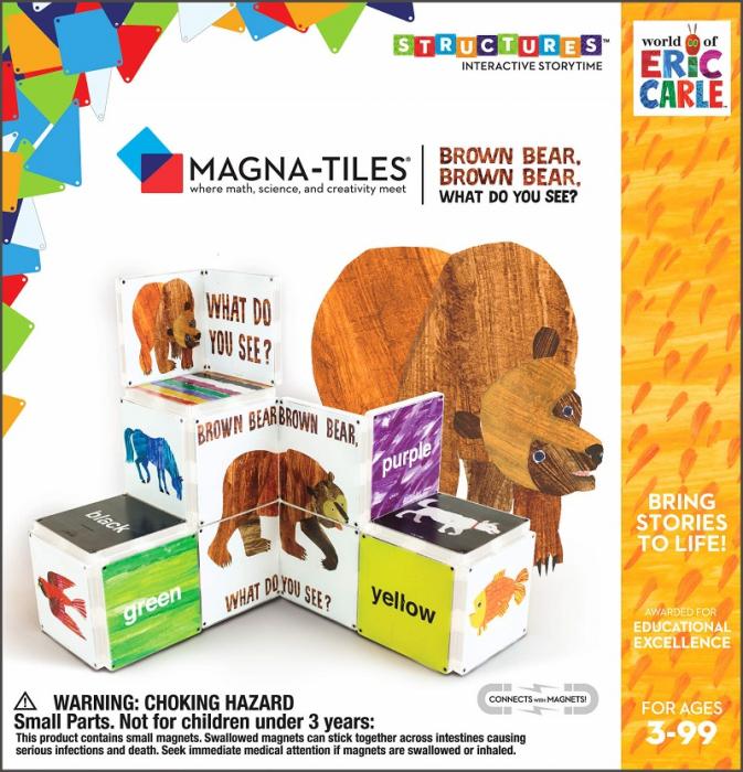 Pachet tematic Createon Eric Carle - Ursule brun: Magna-tiles + Cartea 0