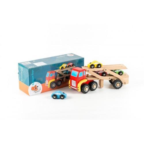 Camion cu masini - Jucarie de lemn 1
