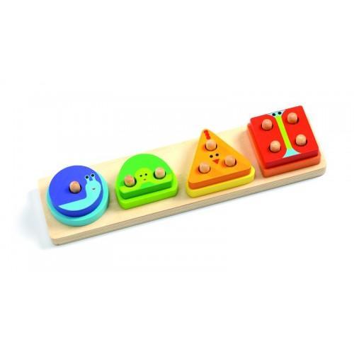 Jucarie motorica - Potrivire forme colorate de lemn 1