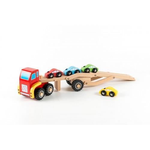 Camion cu masini - Jucarie de lemn