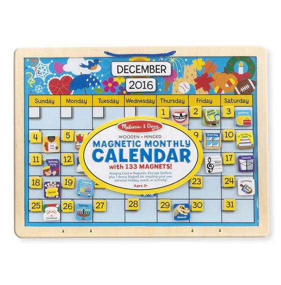 Calendar din lemn magnetic [0]