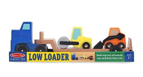 Camion transportor cu platforma cu utilaje de constructii [1]