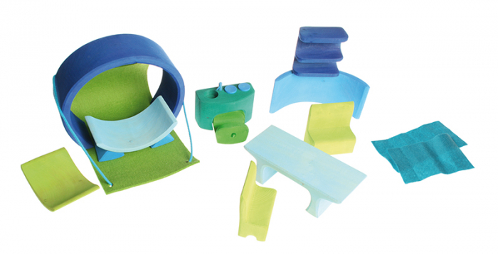 Casuta papusii albastru-verde [2]