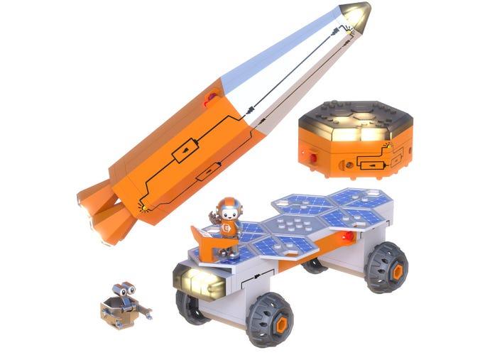 Set constructie STEM invatare circuite: Circuit Explorer - Racheta 1
