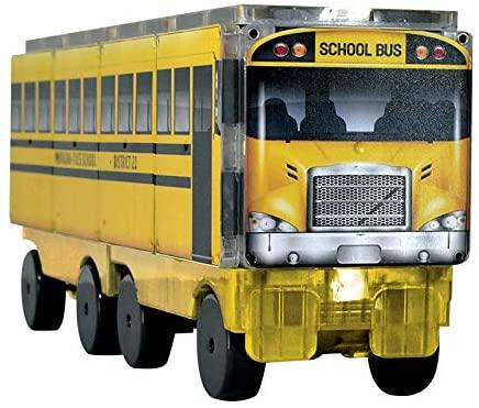 Set de constructie piese magnetice Autobuzul scolar 123 CreateOn Magna-Tiles - Set 16 piese magnetice [7]