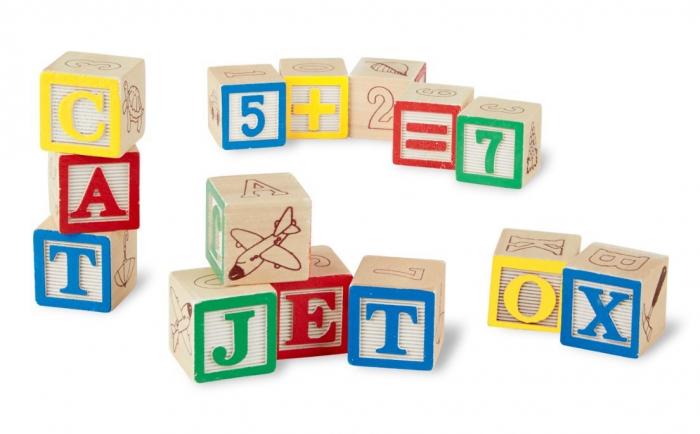 Cuburi litere si numere - 50 buc 1