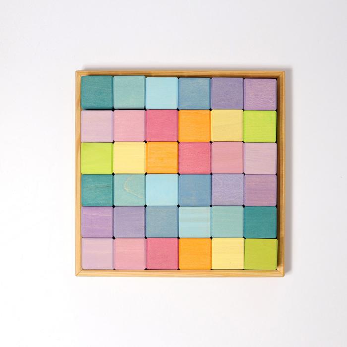 Cuburi Mozaic nuante pastel mediu [3]