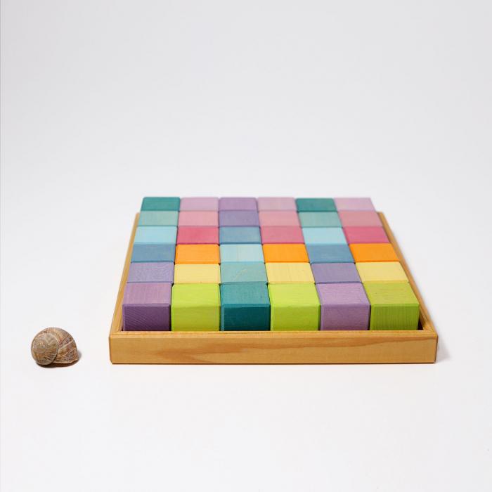Cuburi Mozaic nuante pastel mediu [0]