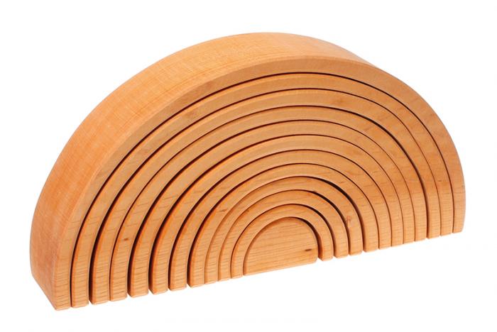 Curcubeu 12 piese - varianta lemn natur 0