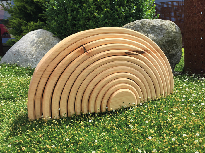 Curcubeu 12 piese - varianta lemn natur 1