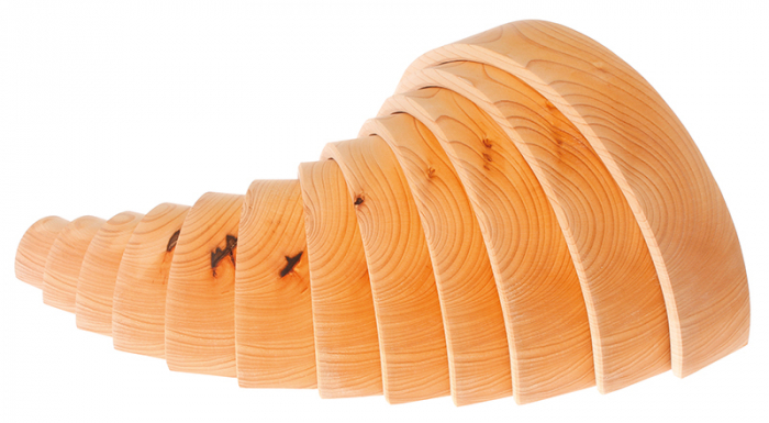 Curcubeu 12 piese - varianta lemn natur 3