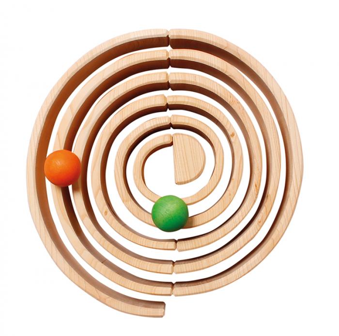Curcubeu 12 piese - varianta lemn natur 4