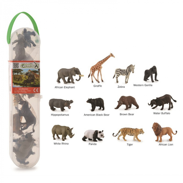 Cutie cu 12 minifigurine Animale salbatice [0]