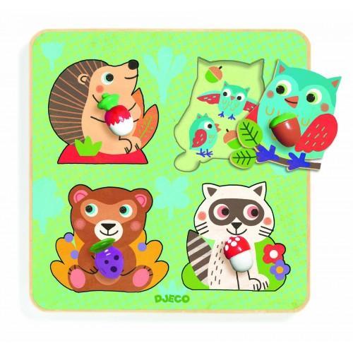 Puzzle Animale din padure 0
