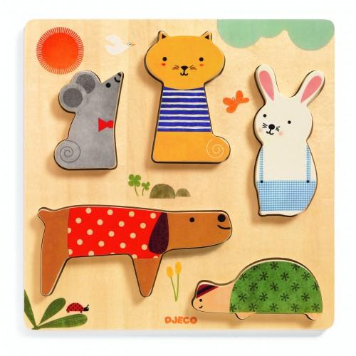 Puzzle lemn animale de companie 0