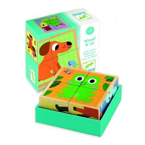 Cuburi din lemn - Animale nostime 1