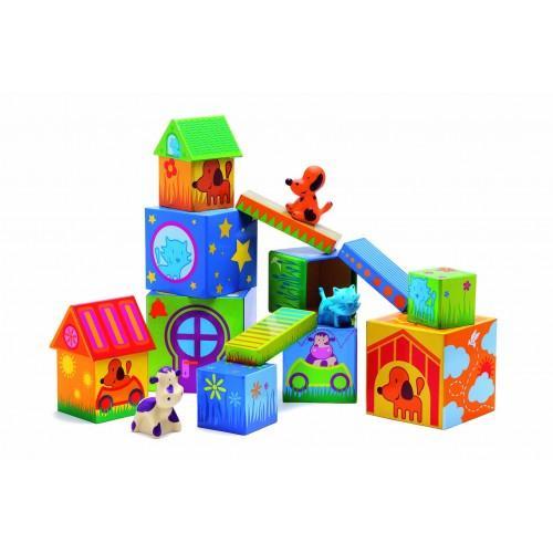 Cuburi de construit cu animale Cubanimo 1
