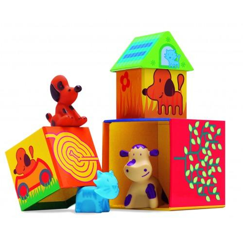 Cuburi de construit cu animale Cubanimo 0