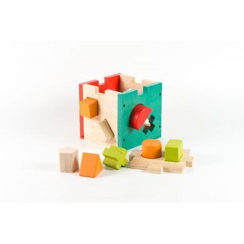 Cub montessori cu forme si culori 1