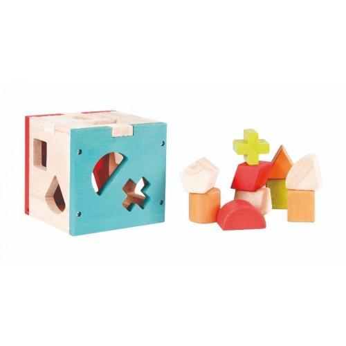 Cub montessori cu forme si culori 2