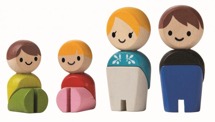 Familia de papusi - set de figurine din lemn [0]