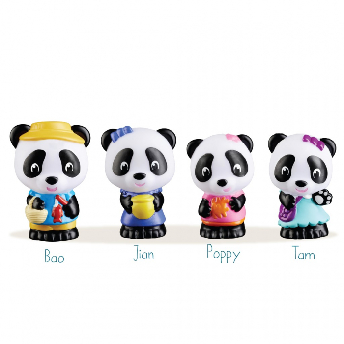 Familia de ursuleti Panda - Set figurine joc de rol [1]