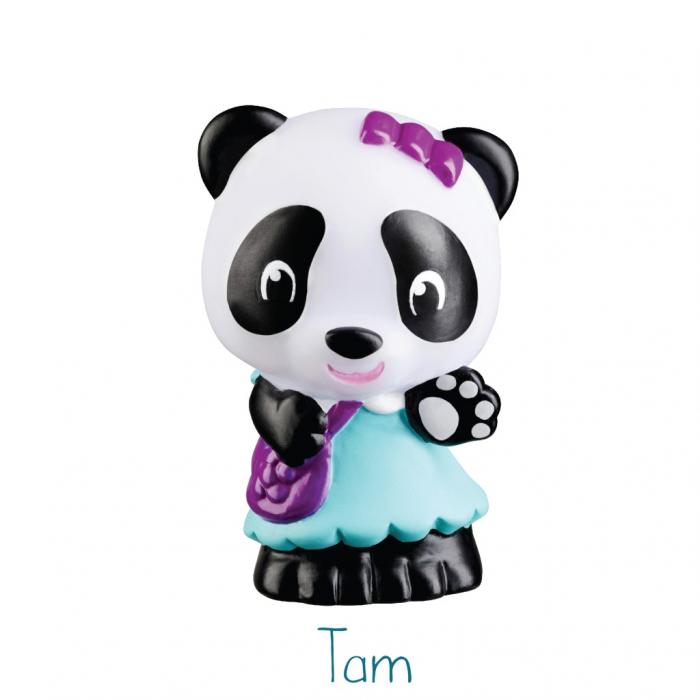 Familia de ursuleti Panda - Set figurine joc de rol [6]