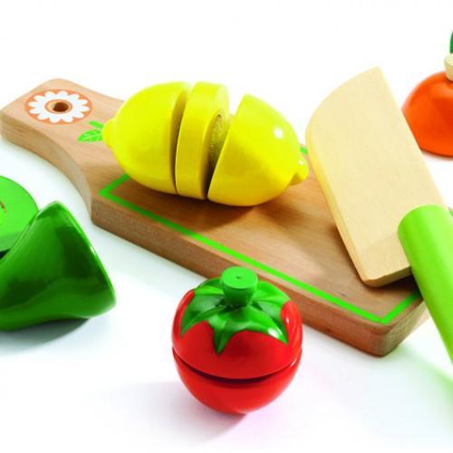 Fructe si legume de feliat de lemn - Set joc de rol 0