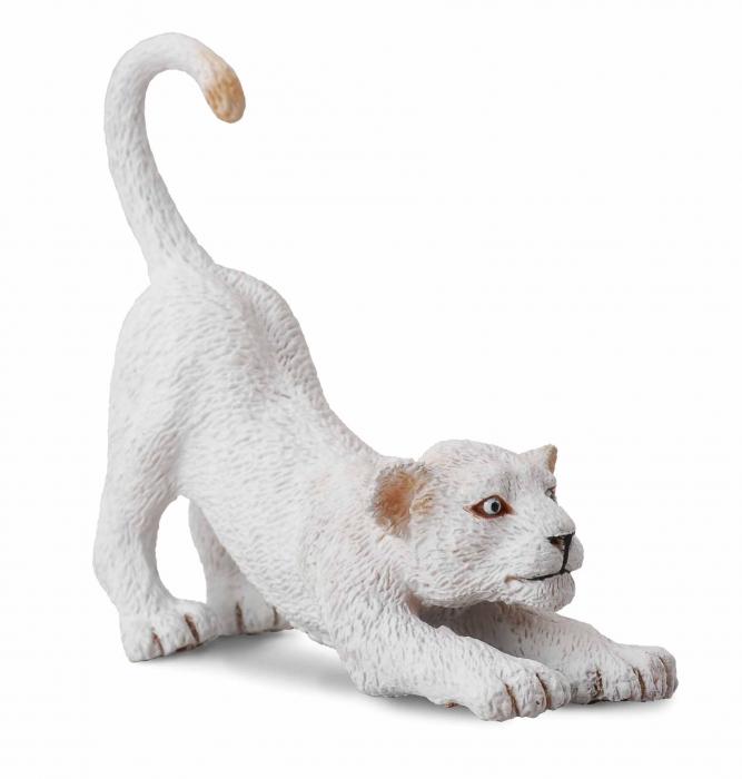 Pui leu alb - Animal figurina 0