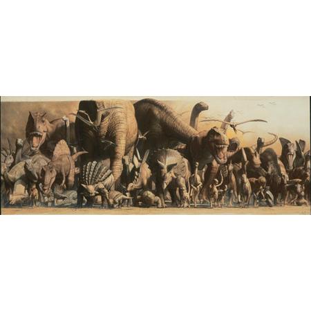 Poster deluxe tip panorama - Dinozauri si Animale ale junglei 0