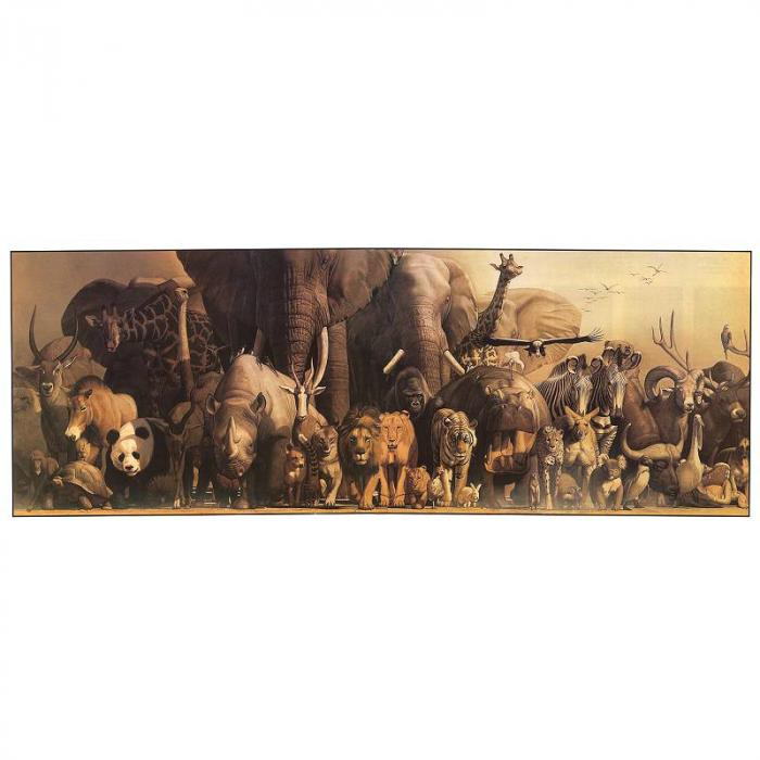 Poster deluxe tip panorama - Dinozauri si Animale ale junglei 1
