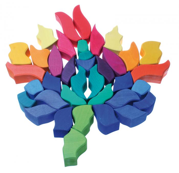 Fluturele Curcubeu - puzzle senzorial si creativ [4]