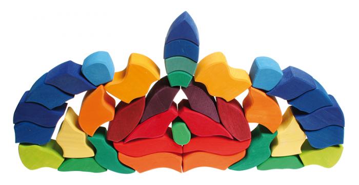 Fluturele Curcubeu - puzzle senzorial si creativ [6]