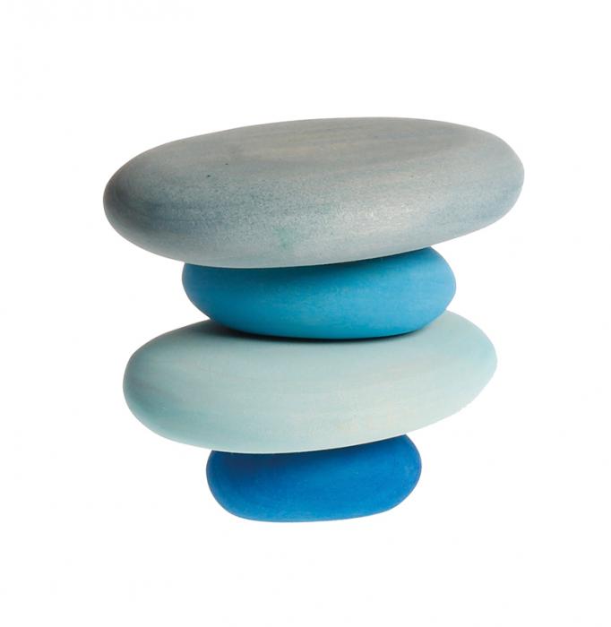 Forme in echilibru oval nuante de albastru [1]